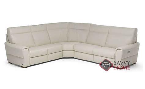 natuzzi leather power reclining sectional topino leather true sectional by natuzzi is fully