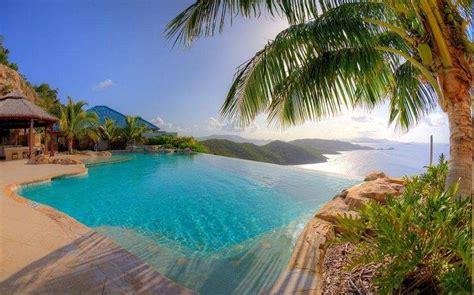 nature landscape resort swimming pool palm trees sea
