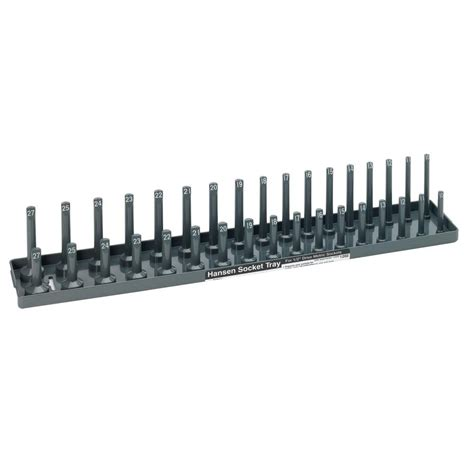 socket set organizer home depot hansen 1 2 in drive metric socket storage tray 1202 the