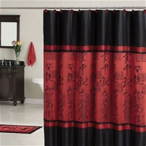 chinese shower curtain red black asian style bathroom polyester shower curtain