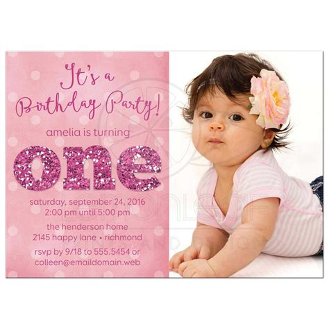1st birthday party invitations girl alanarasbach com