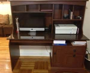 Sauder Graham Hill Computer Desk With Hutch Autumn Maple 301 Moved Permanently