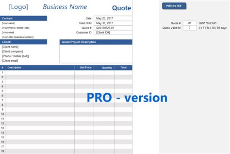 quote spreadsheet template quote spreadsheet template excelsupersite