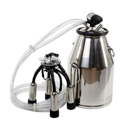 Alat Peternakan 304 Stainless Steel Tank Machin 25l 304 stainless steel portable cow milker tank machine new ebay