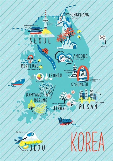 maps   web korea illustrated maps hangul