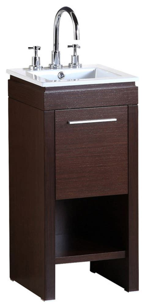 16 inch bathroom vanity bellaterra 16 inch single sink vanity contemporary