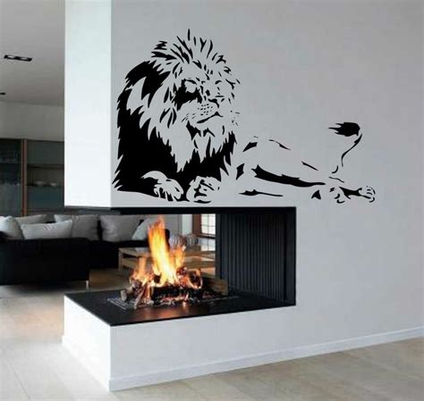 wall vinyl lion africa zoo animal removable kid room wall art decor