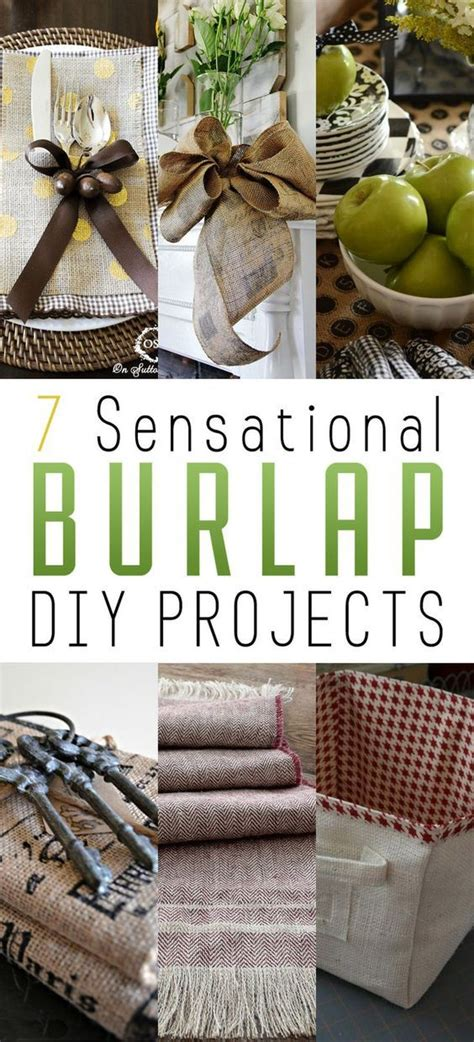 burlap diy projects 7 sensational burlap diy projects to try in your home sew it yourself home decor