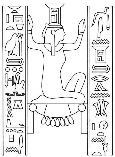 free egyptian life coloring pages