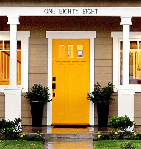 yellow front door yellow craftman front door craftsman entry orange
