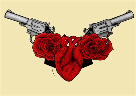 my gun your heart her roses by xxrealitydeathwishxx on