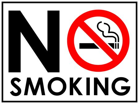 no smoking sign large no smoking yard sign signazon