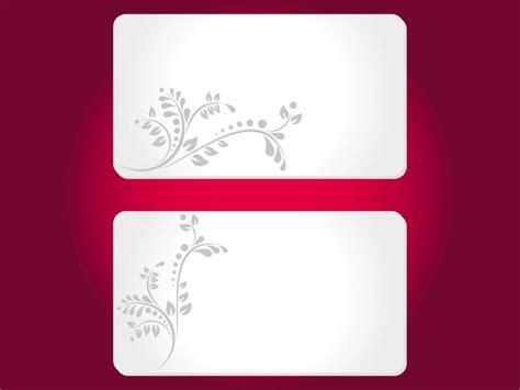Credit Card Template Publisher Floral Cards Templates Vector Graphics Freevector