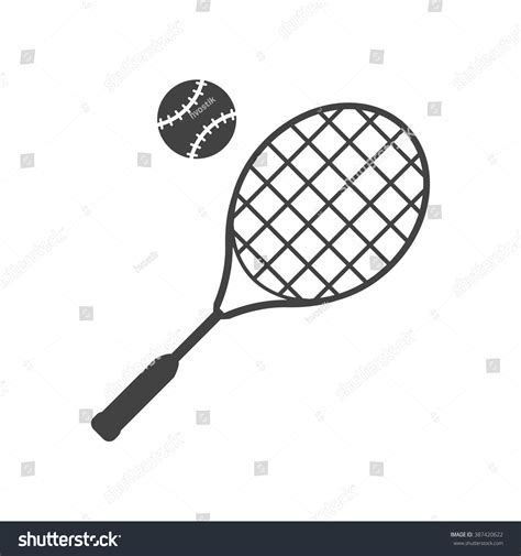 Promo Raket Tenis Silhouetee tennis racket and black icon isolated on white background big tennis vector illustration