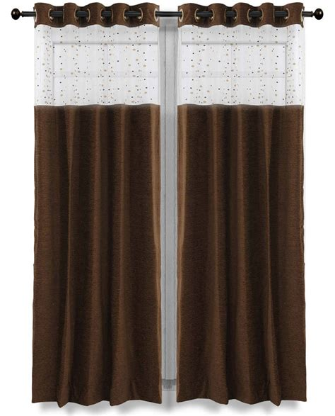 chocolate sheer curtains buy just linen chocolate brown elegant chenille with