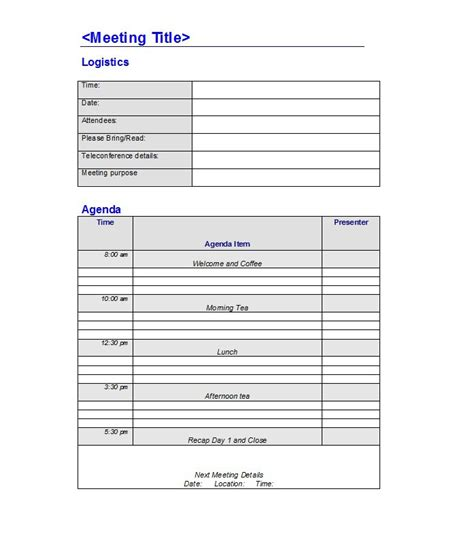 meeting agenda template free doc 529684 free meeting agenda template bizdoska