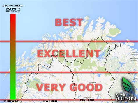 northern lights iceland map best place for northern lights 187 aurora service europe