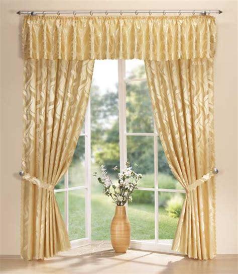 querbehang gardinen vorhänge damast gardinen set vorhang und querbehang gold ebay