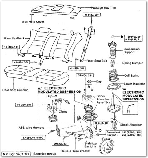 how do i replace the rear struts on my 1998 lexus es300