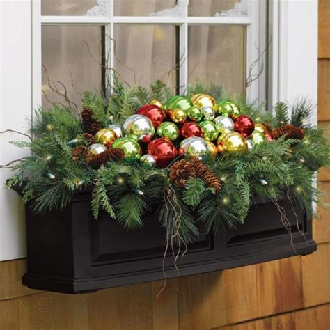 beautiful christmas window box christmas pinterest