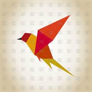 Origami In Flight - origami bird in flight vector clipart image 78837 rfclipart