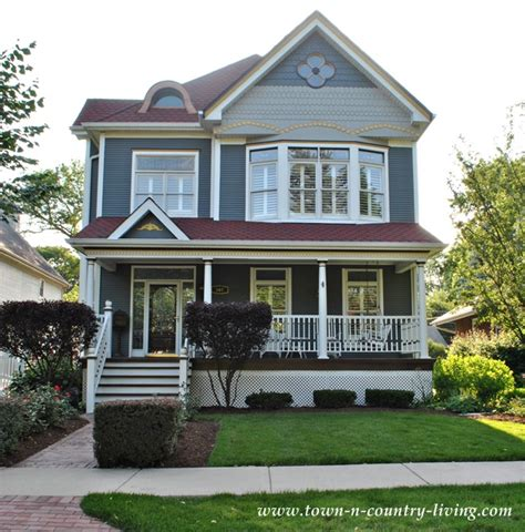 Colonial Farmhouse With Wrap Around Porch by Home Tour In The Historic District Of Naperville Illinois