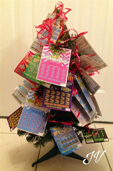 christmas trees decorated with scratch tickets 281 best images about gift basket ideas on lotto tickets themed gift baskets and