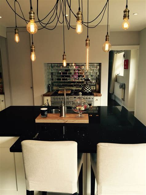 kitchen pendant lights and mirrored tile splashback home 17 best images about kitchen on pinterest family kitchen