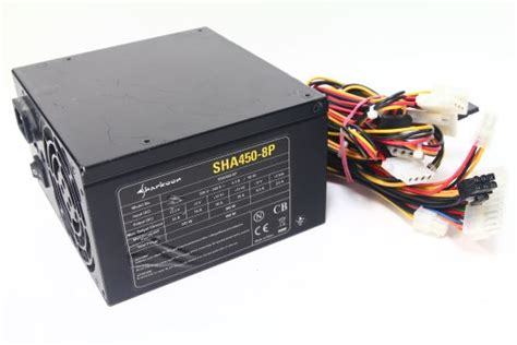 Schöne Eigenschaften by Sharkoon Sha450 8p 450watt Atx Computer Power Supply Pc