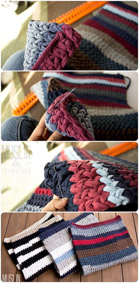 knitting pattern with tshirt yarn t shirt yarn knit rug favecrafts com