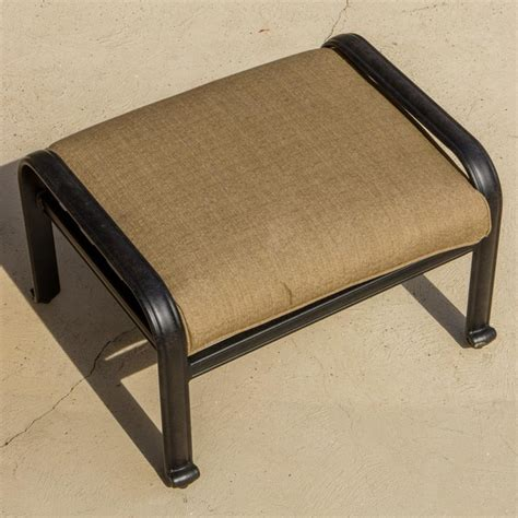 Outdoor Patio Footstools rosedown cast aluminum patio ottoman modern outdoor