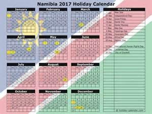 Calendar 2018 Namibia Namibia 2017 2018 Calendar