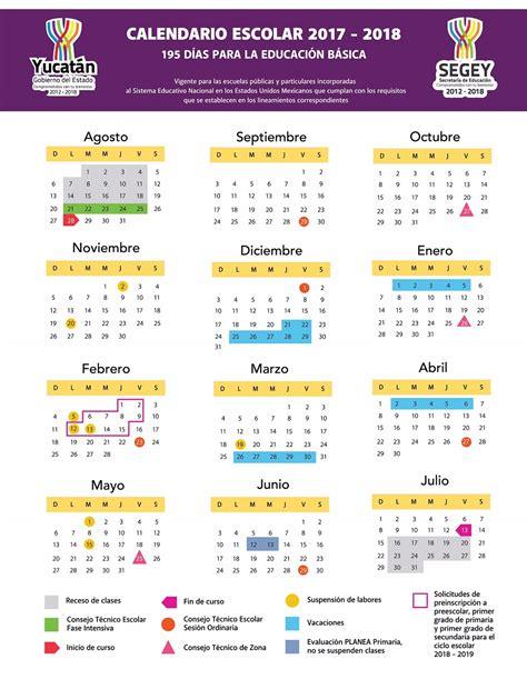 Calendario Escolar 2018 Sep Calendario Escolar 2017 2018
