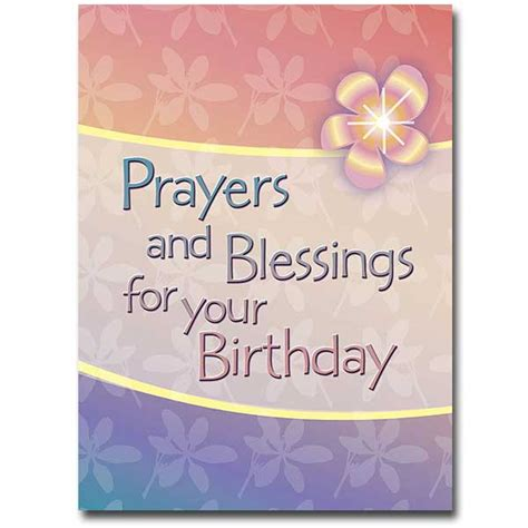Birthday Prayer For by Prayers And Blessings Birthday Card