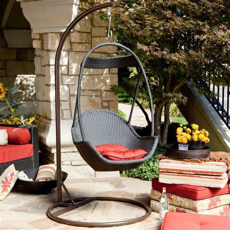 modern swing outdoor wicker swing chair country home design ideas