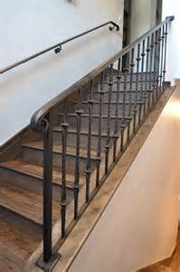 Iron Fleur Beige Rug Iron Stair Railing Staircase Traditional With