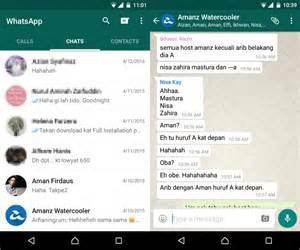 kemaskini whatsapp untuk android kini membawakan