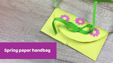And Craft Made By Paper - how to make paper handbag easy craft for