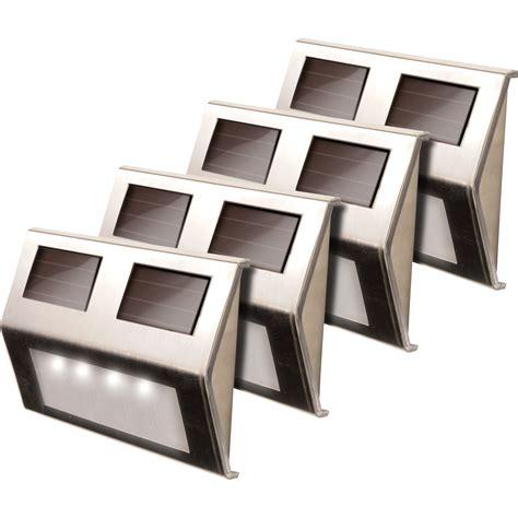 solar led deck lights maxsa solar powered led deck lights 4 pack stainless