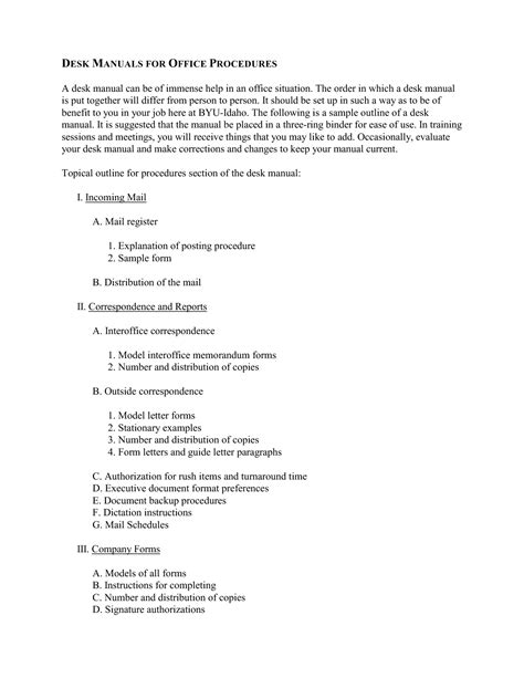 best photos of desk manual job duties template sle