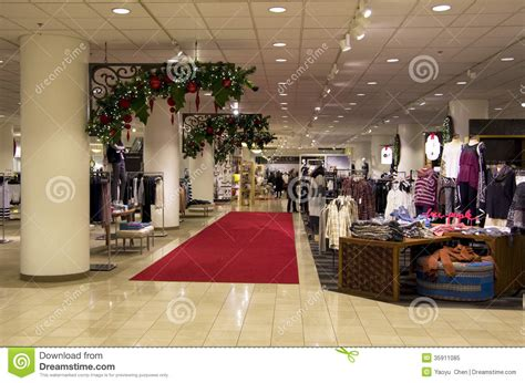 department store mall shopping christmas tree ligh