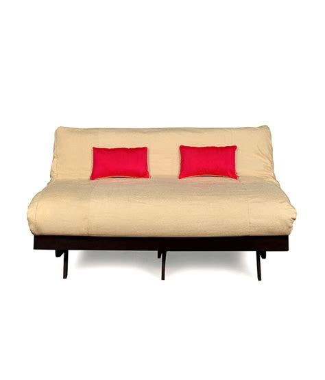 futon india futon double sofa cum bed beige buy futon double sofa