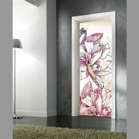 adesivo porta adesivo per porte fiori stilizzati in vendita