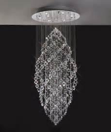 Modern French Bathroom - gabor floating crystal pendant chandelier