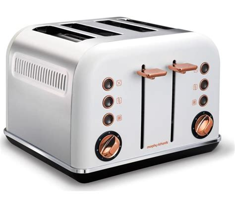 4 Slice Toaster Reviews Uk Buy Morphy Richards Accents 242106 4 Slice Toaster White
