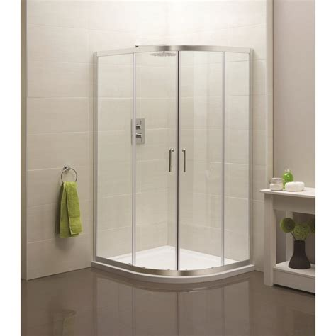 C Shower Enclosure by Sommer Offset Door Curved Quadrant Shower Enclosure
