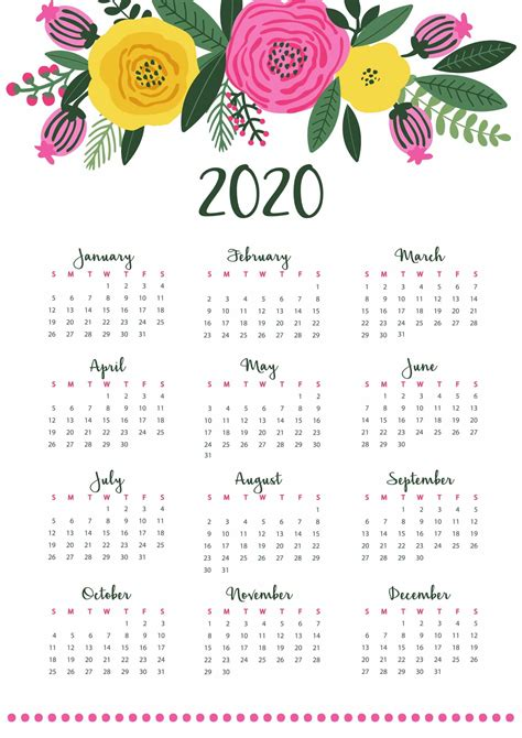 yearly calendar  notes    calendars  students education yearly calendar