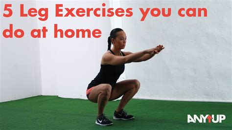 5 leg exercises you can do at home without equipment