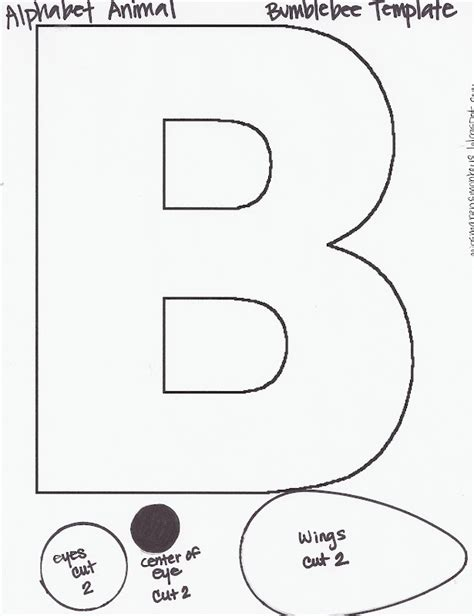 letter b template miss maren s monkeys preschool the letter b