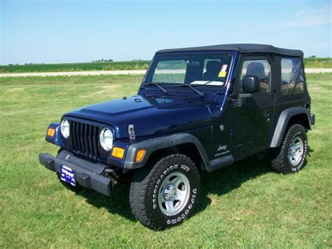 jeep wrangler 2 4l manual 1997 car for sale sell used 2006 jeep wrangler se sport utility 2 door 2 4l in peru illinois united states